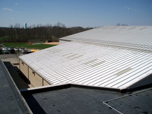 A recently replaced Metal Roof by PrimeRoof Solutions, your preferred roofing contractor